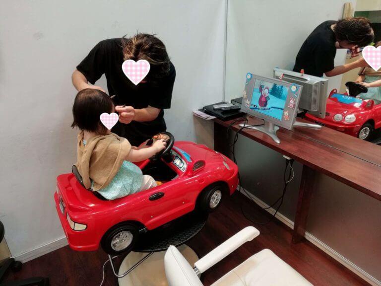 2歳の娘が北千住の美容室ハーティーでキッズカットにチャレンジしてきた