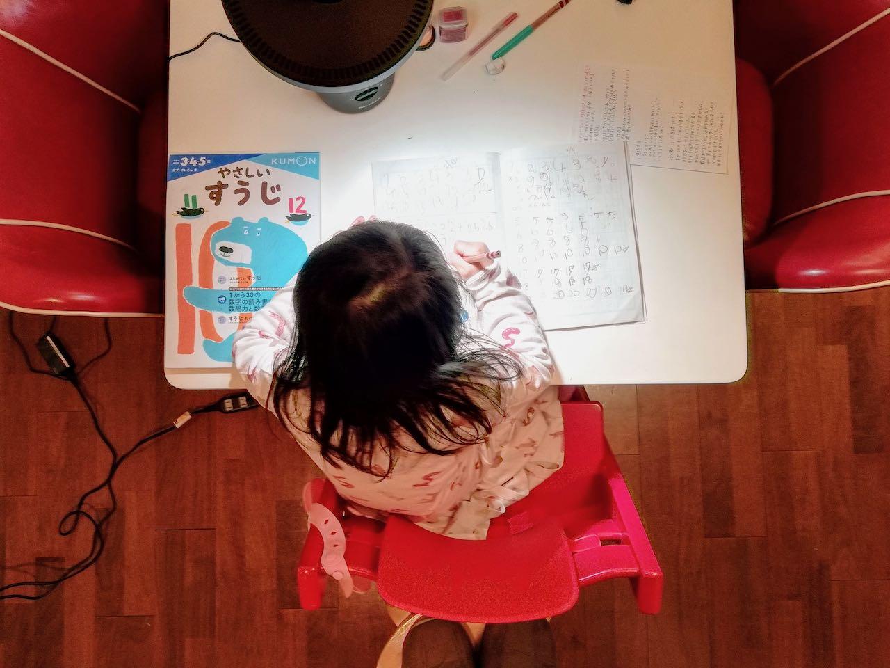 【自宅学習失敗談】幼児(3歳)に数字を書く練習させたら勉強が嫌いになった